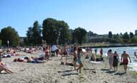 Cooling off after a hot day at Kitsilano Beach