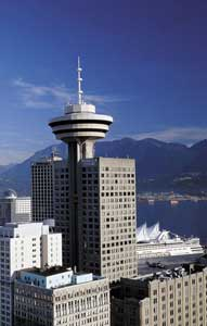 Harbour Centre Tower and Cruise Ship