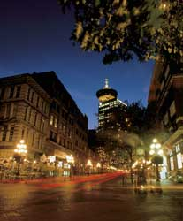 Harbour Centre Tower from Gastown