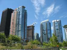 Vancouver towers with curved walls